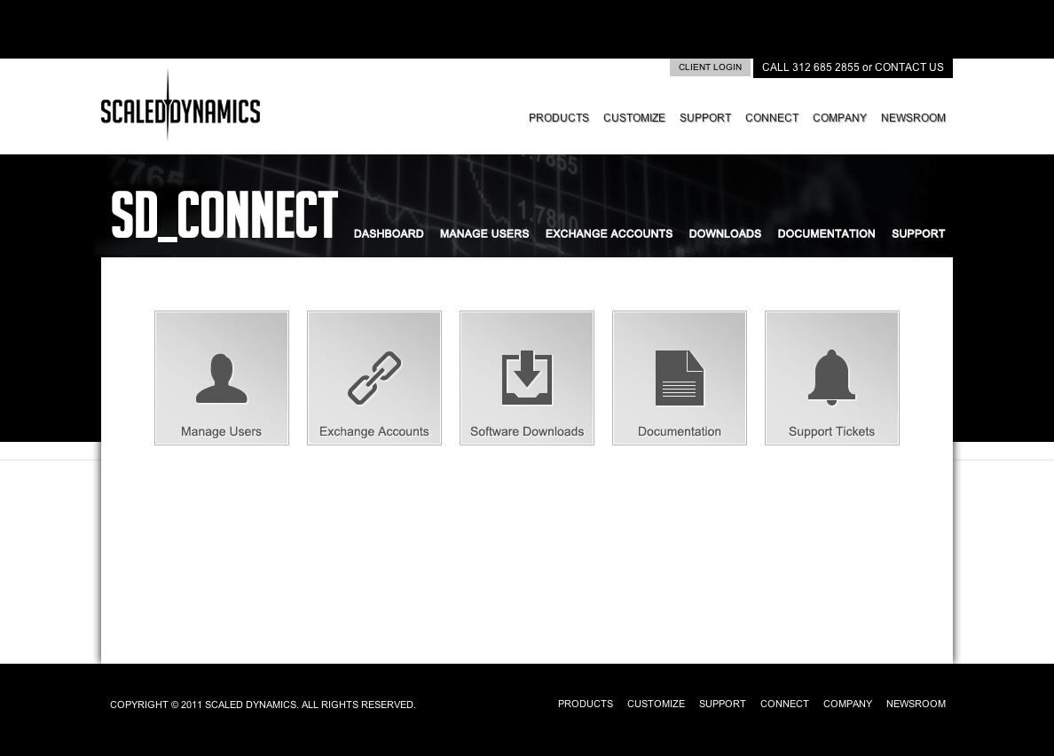 Client Login Landing Page