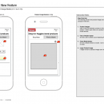 Selected product wireframe